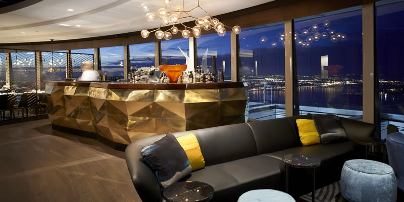 The Sugar Club restaurant at the top of Auckland's Sky Tower
