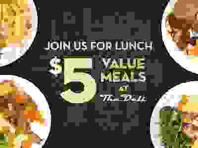 $5 Value Meals + Free parking