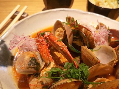 MASU $49 Shellfish broth