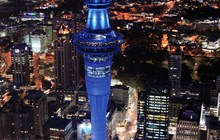 Sky Tower in blue