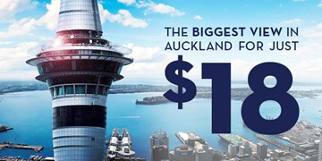 The biggest view in Auckland for just $18!