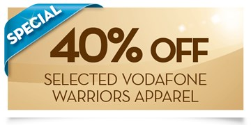 40% off selected Vodafone Warriors apparel